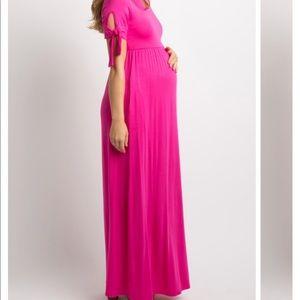 Pinkblush Maternity Maxi Dress M Hot Pink NEW